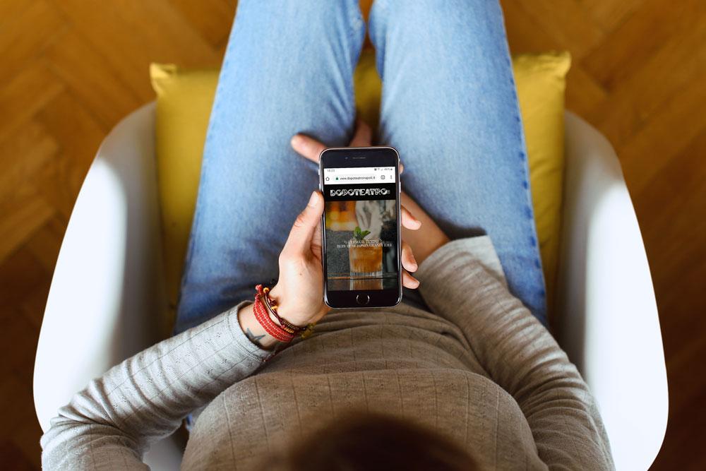 Realizzazione sito web Dopoteatro - Agenzia pubblicitaria - Libellula Grafica Lab
