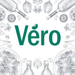 Logo Vero Ristorante - Agenzia di comunicazione Napoli - Libellula Grafica Lab