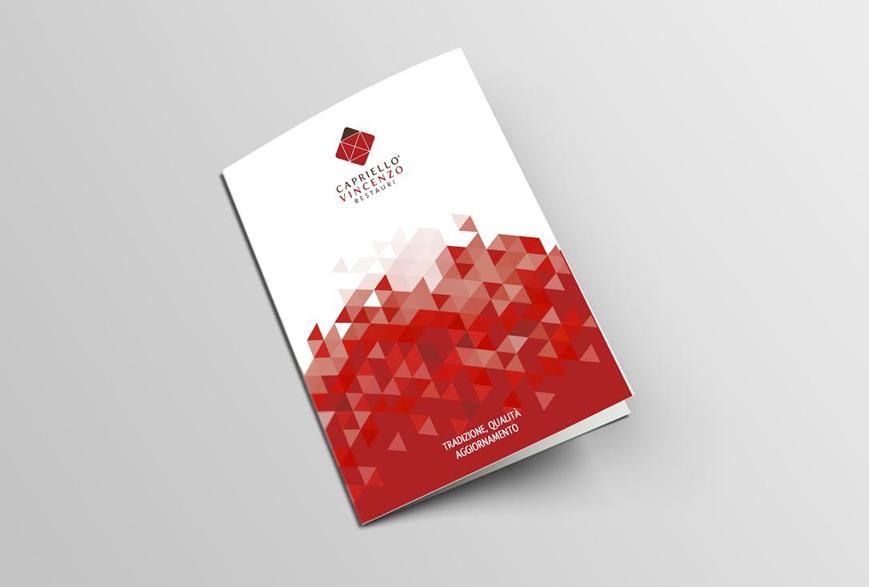 Brochure Capriello Vincenzo Restauri - Agenzia di comunicazione - Libellula Grafica Lab