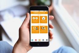 Schermata App ios ed android - Agenzia di Comunicazione Libellula Grafica Lab