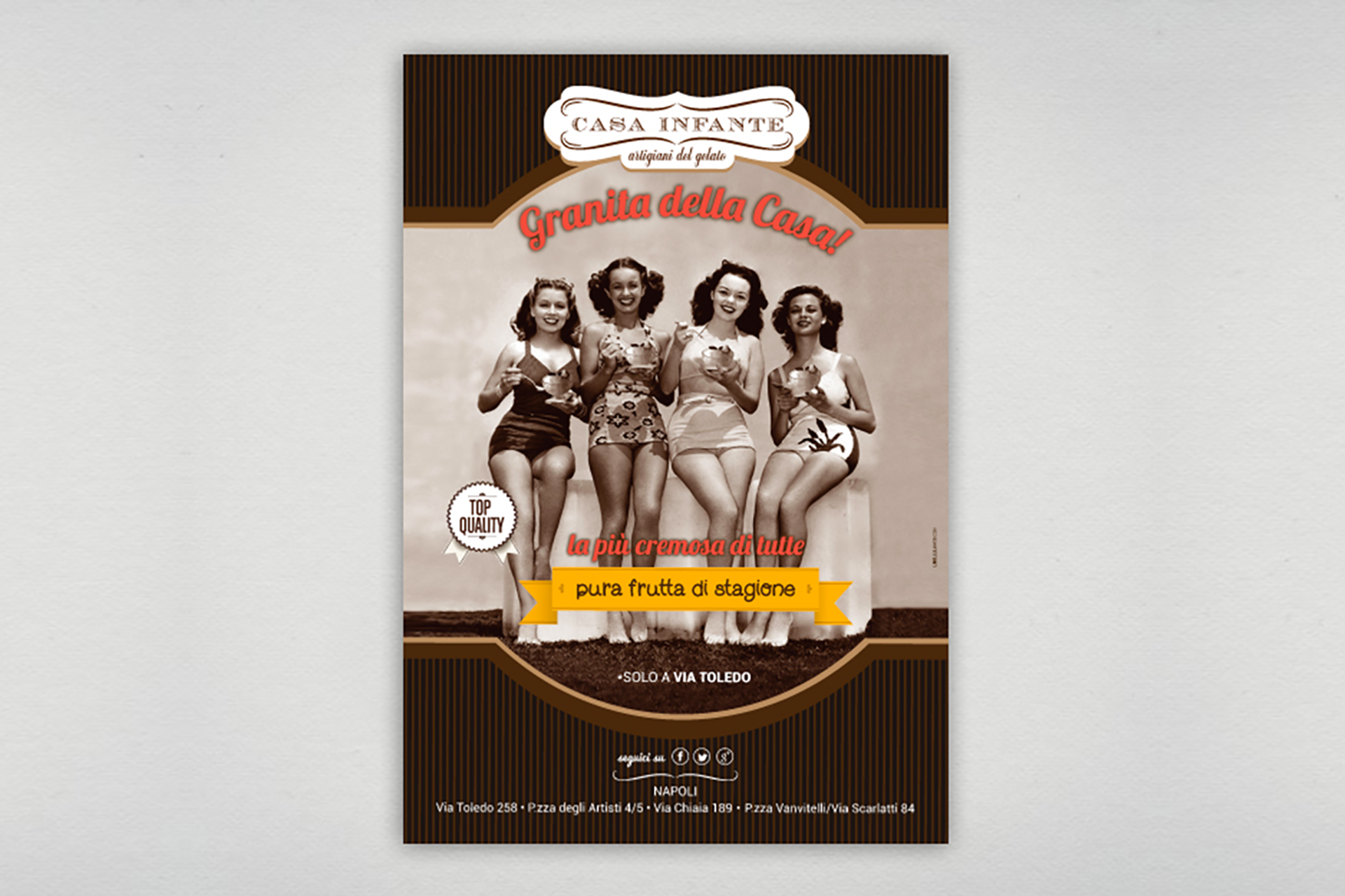 Comunicazione punto vendita Casa Infante - Agenzia pubblicitaria Napoli - Libellula Grafica Lab
