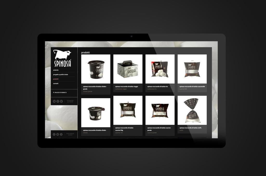 E-commerce Spinosa Mozzarella - Web agency Napoli - Libellula Grafica Lab