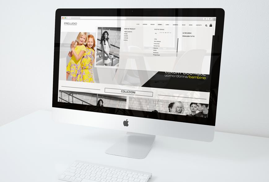 Realizzazione sito web Preludio - Agenzia di comunicazione Napoli - Libellula Grafica Lab