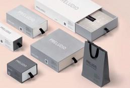 Packaging personalizzato Preludio - Agenzia di comunicazione Napoli - Libellula Grafica Lab
