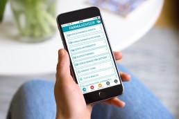 Anteprima applicazione ios ed android per farmacie - Agenzia di Comunicazione Libellula Grafica Lab