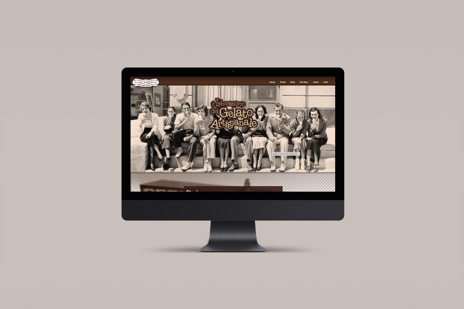Realizzazione sito web Casa Infante - Agenzia pubblicitaria Napoli - Libellula Grafica Lab