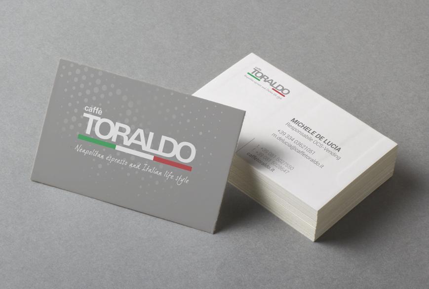 Biglietti da visita personalizzati Caffè Toraldo - Agenzia pubblicitaria Napoli - Libellula Grafica Lab