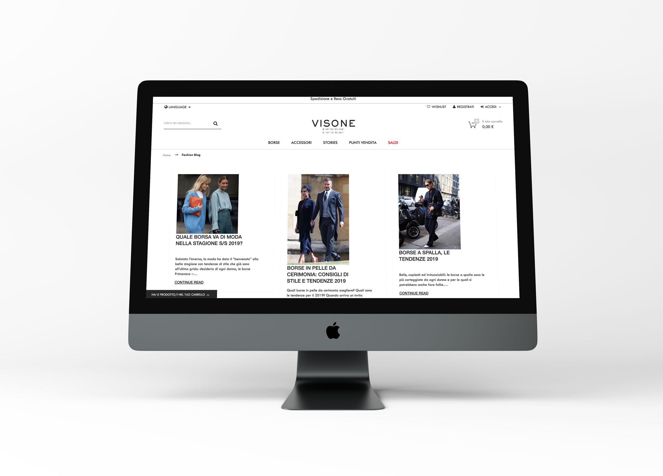 mockup FRANCESCO VISONE SITO WEB