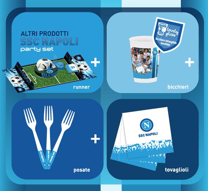 SSC CALCIO NAPOLI Creazione Party set - Agenzia Grafica Libellula Grafica Lab