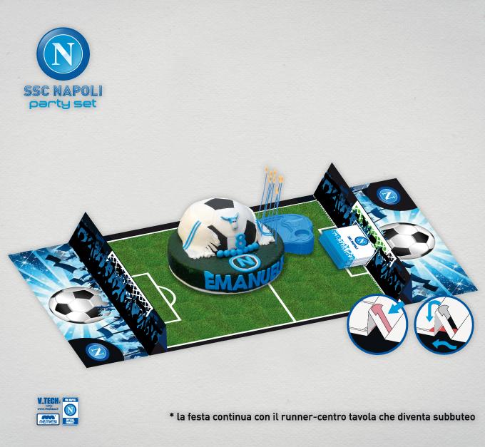 ideazione centro tavola Calcio Napoli - Agenzia di Comunicazione Libellula Grafica Lab