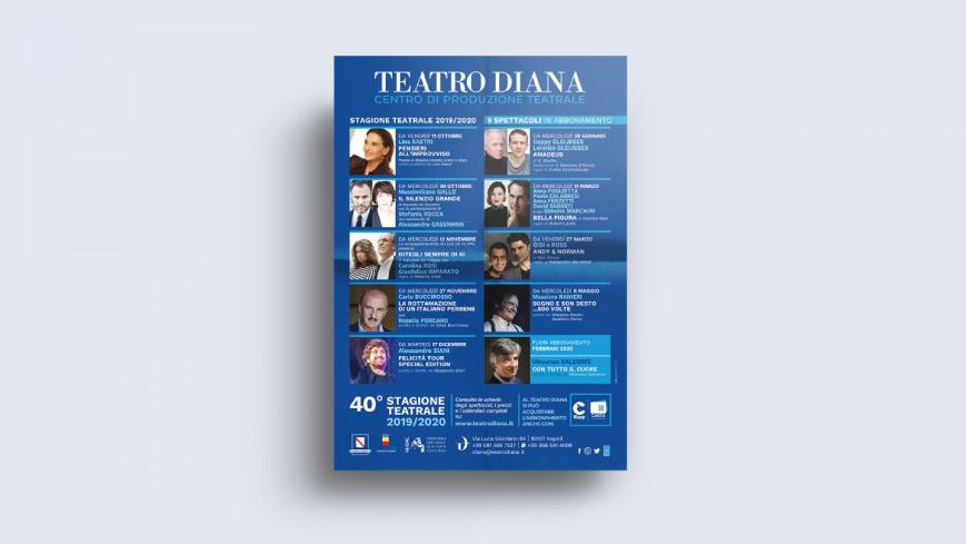 Teatro Diana - Grafica per volantini - Agenzia di comunicazione Napoli - Libellula Grafica Lab