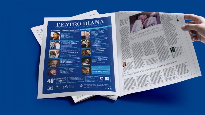 Teatro Diana - Inserzione pubblicitaria - Agenzia di comunicazione Napoli - Libellula Grafica Lab
