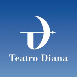 logo del teatro Diana di Napoli - Agenzia Libellula Grafica Lab