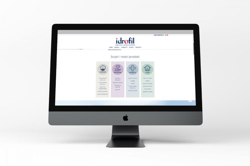 Realizzazione sito web Idrofil - Agenzia di comunicazione Napoli - Libellula Grafica Lab