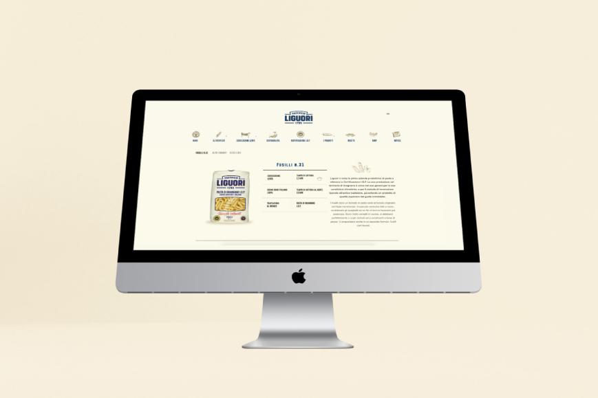 Pastificio Liguori - Realizzazione sito web - Web agency Napoli - Libellula Grafica Lab