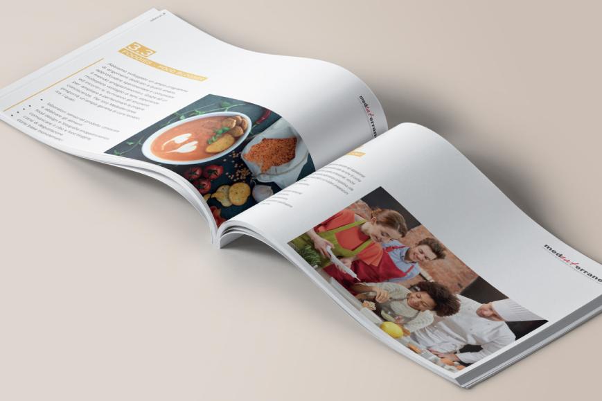 Catalogo grafica e stampa food ACCADEMIA ENOGASTRONOMICA MEDEATERRANEA