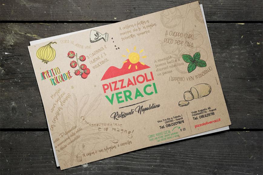 Anteprima tovagliette pizzeria PIZZAIOLI VERACI