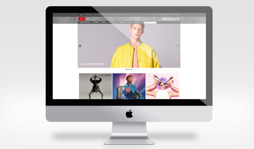 Realizzazione sito web Deliberti - Agenzia di comunicazione Napoli - Libellula Grafica Lab