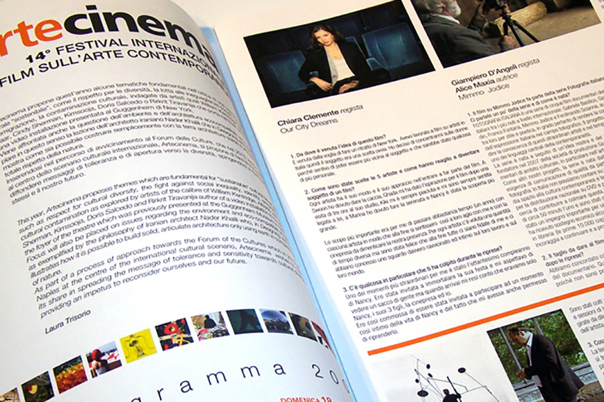 Impaginato Artecinema - Agenzia pubblicitaria Napoli - Libellula Grafica Lab