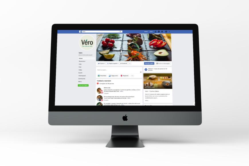 Gestione social media Vero Ristorante - Agenzia di comunicazione Napoli - Libellula Grafica Lab