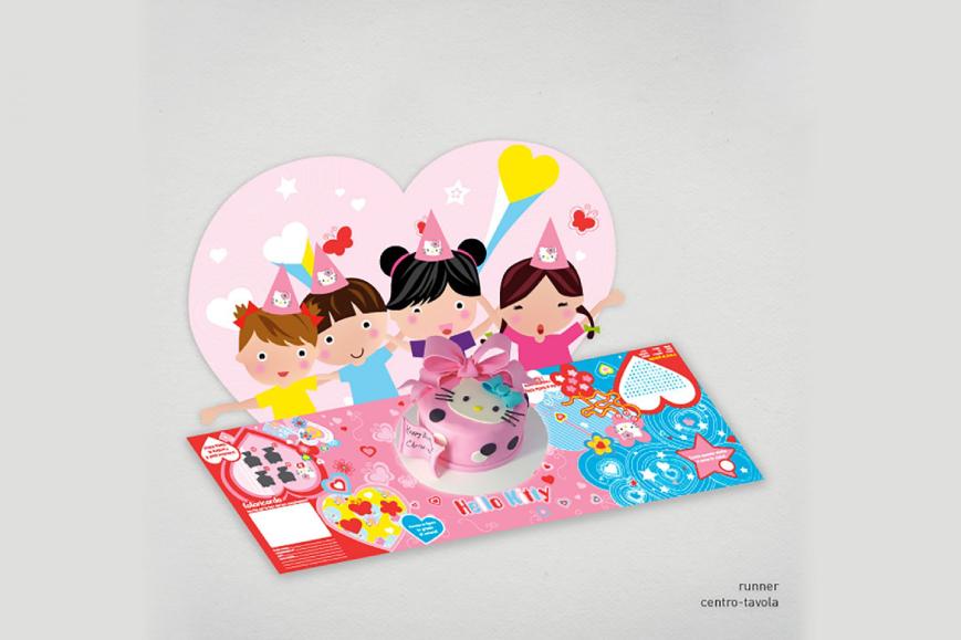 Packaging personalizzato Hello Kitty - Web agency Napoli - Libellula Grafica Lab