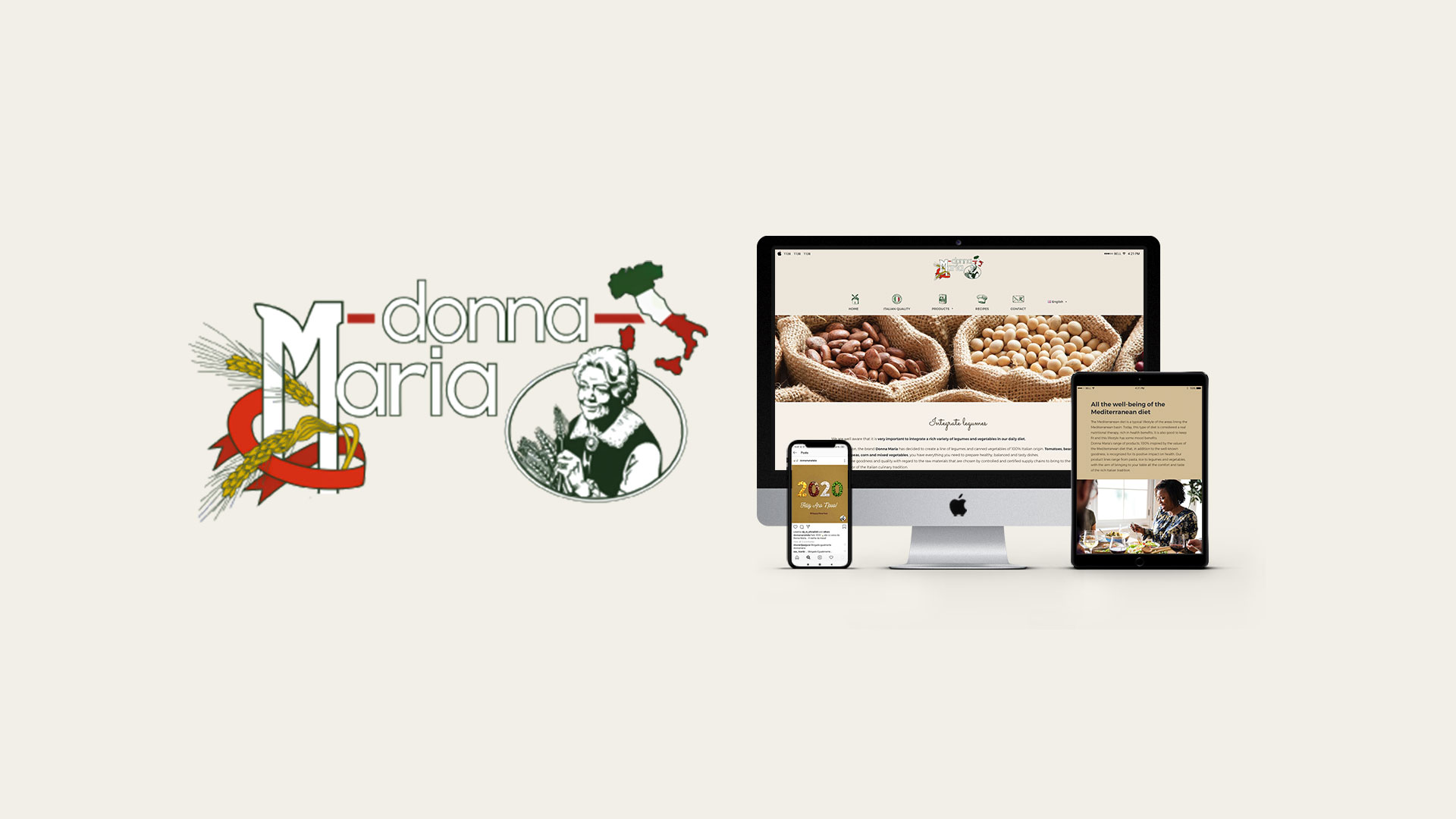 Donna Maria / Pastificio Liguori Belgio   Web adv social media marketing libellula grafica lab