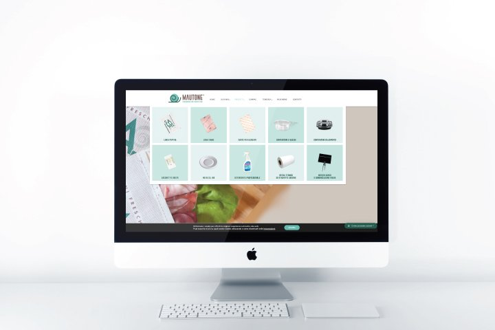 Sito web MAc Desktop Mautone Packaging